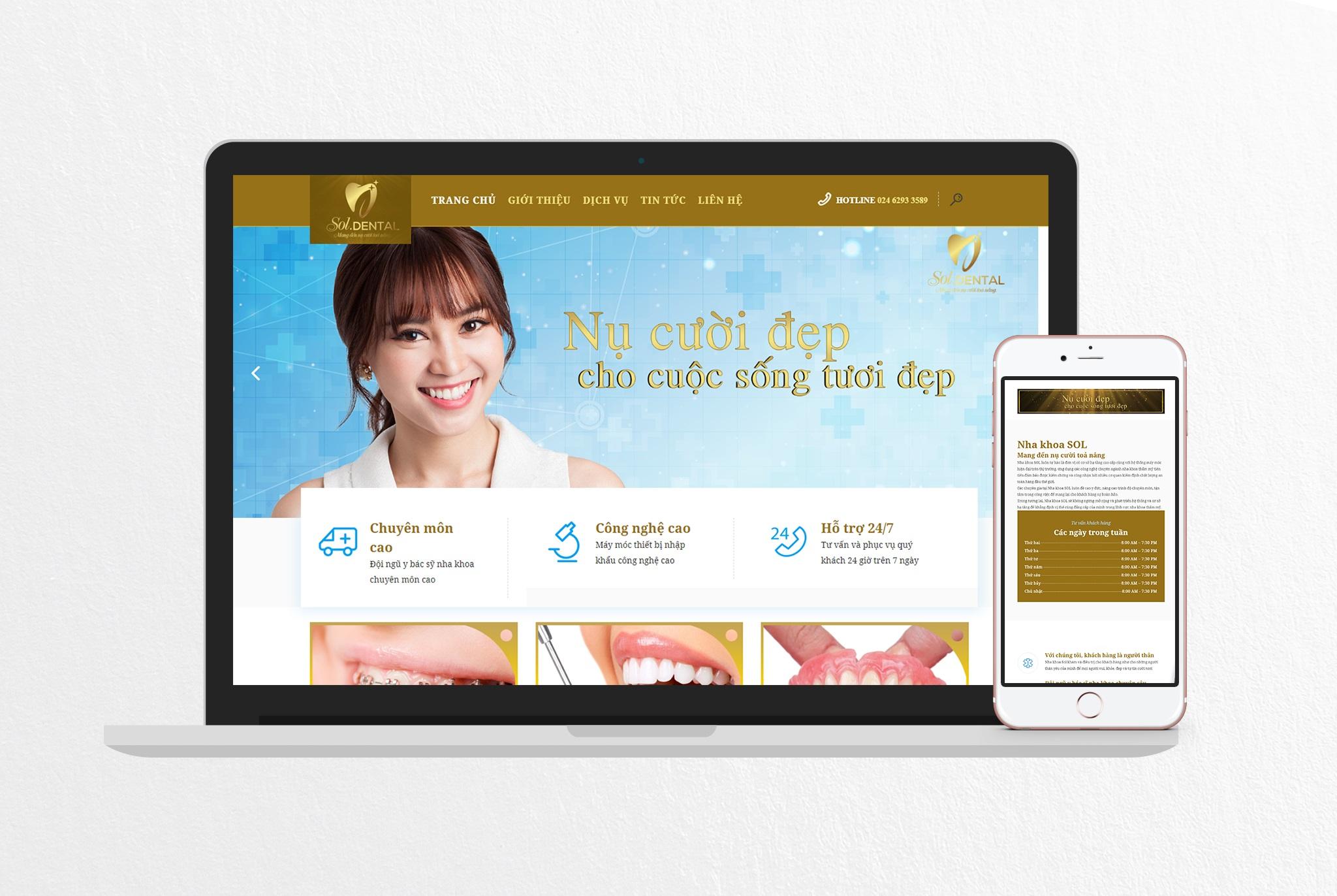thiết kế website uy tín