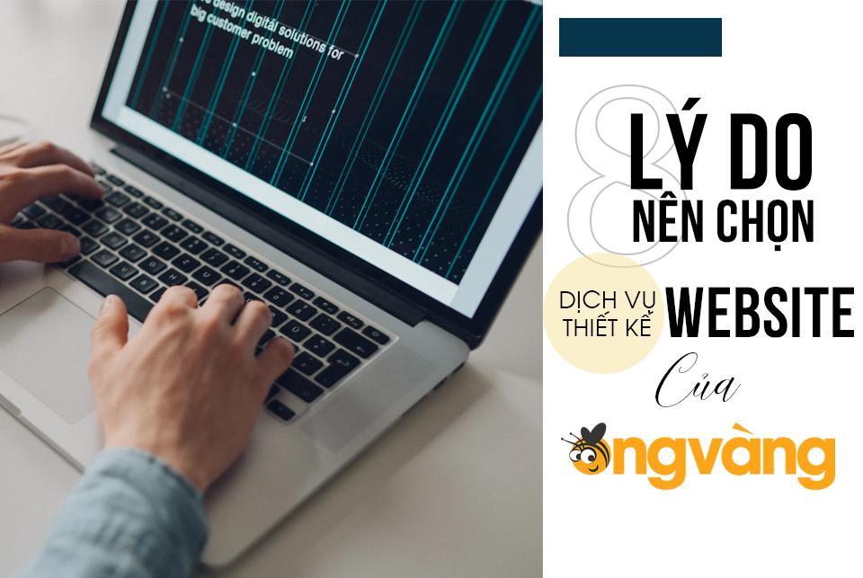dịch vụ thiết kế website ong vàng